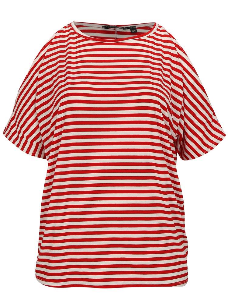 Červené pruhované tričko Dorothy Perkins Curve