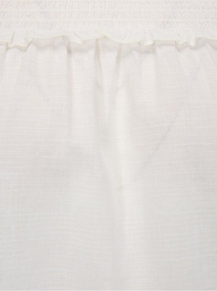 Bílá halenka s odhalenými rameny Dorothy Perkins