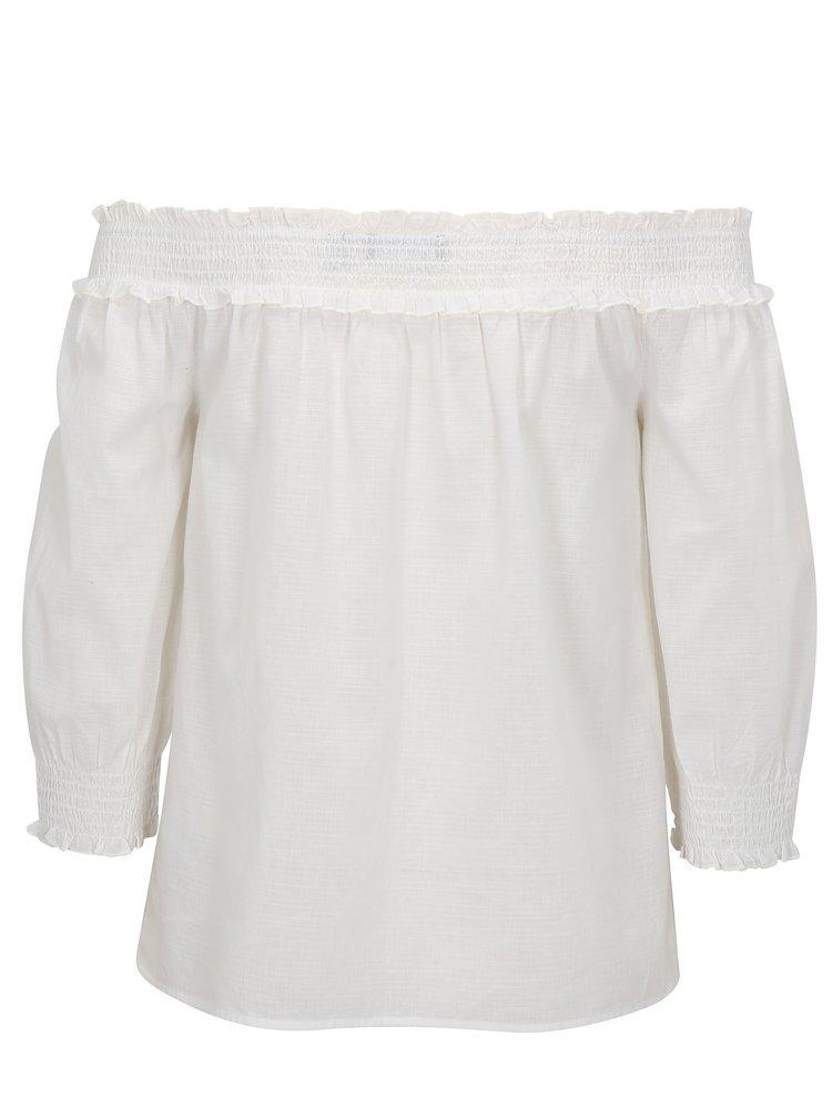 Biela blúzka s odhalenými ramenami Dorothy Perkins