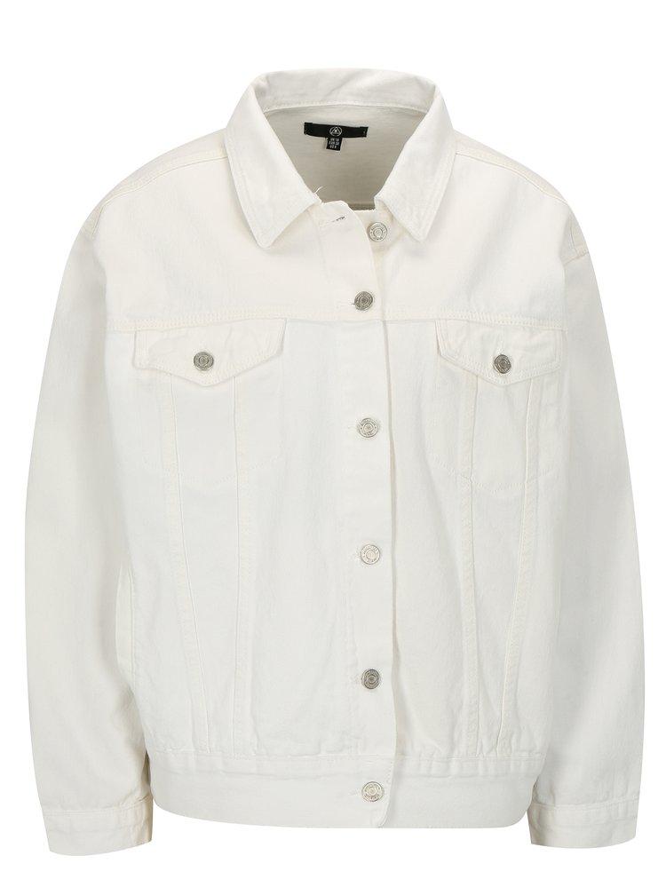 Bílá džínová bunda MISSGUIDED