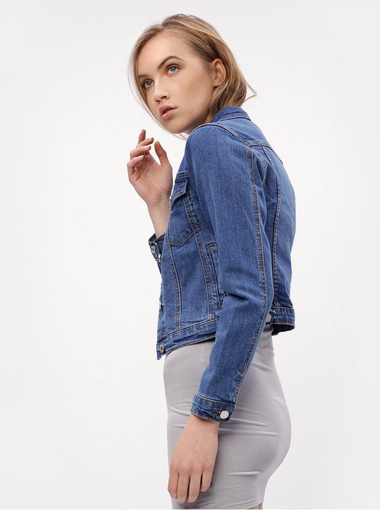 Modrá krátká džínová bunda MISSGUIDED