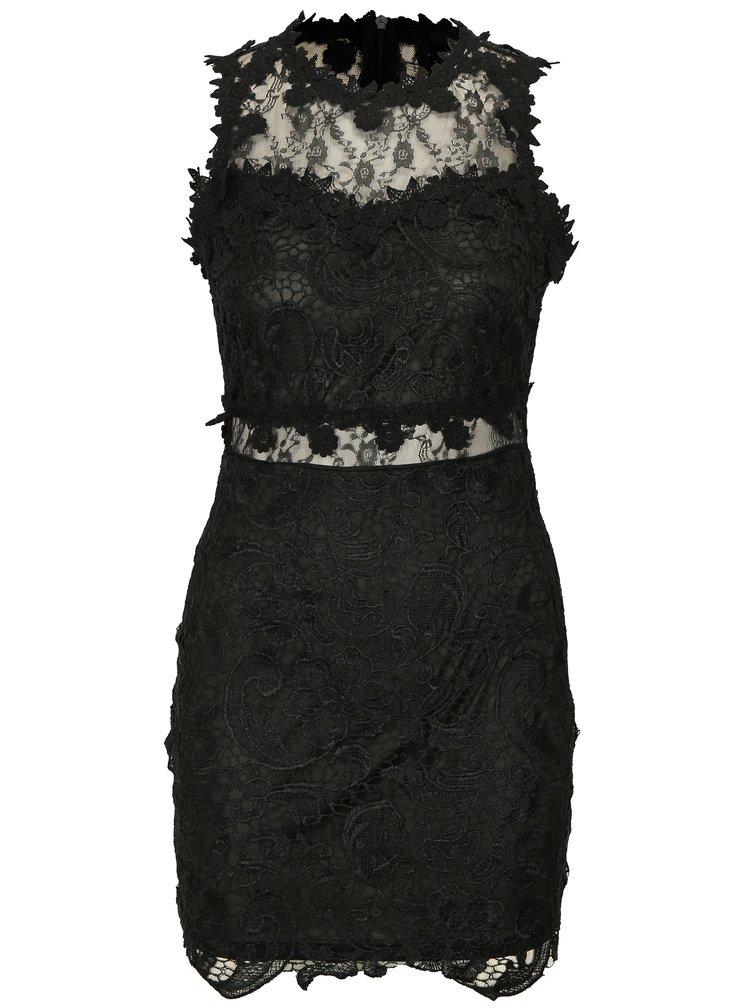 Černé krajkové šaty MISSGUIDED