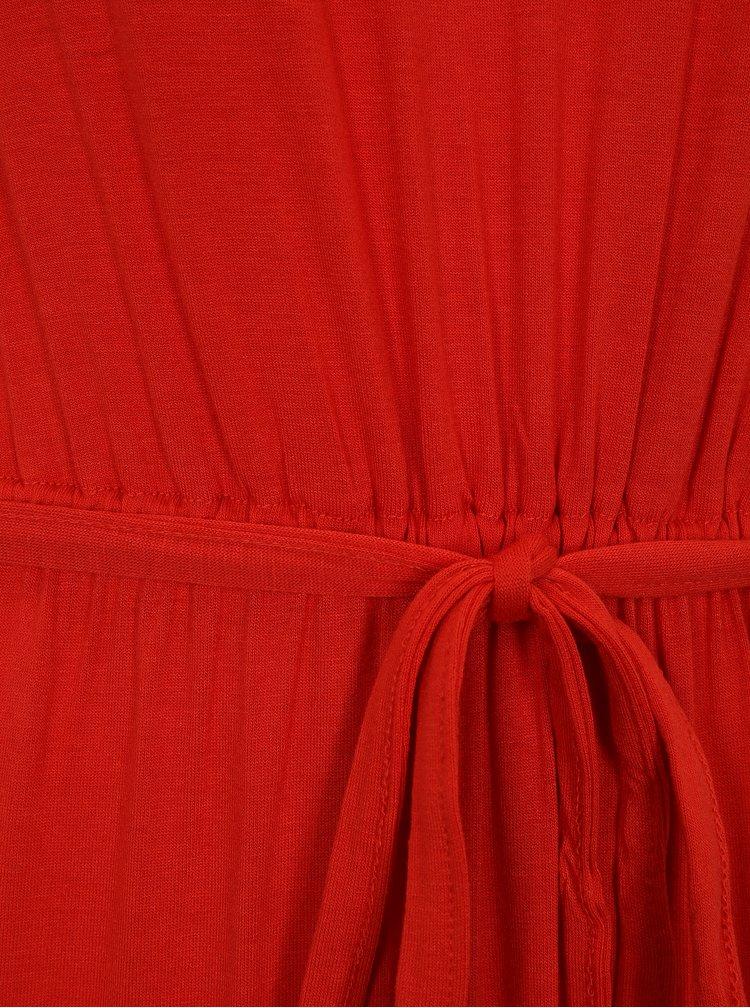 Červené maxišaty s krajkou Dorothy Perkins