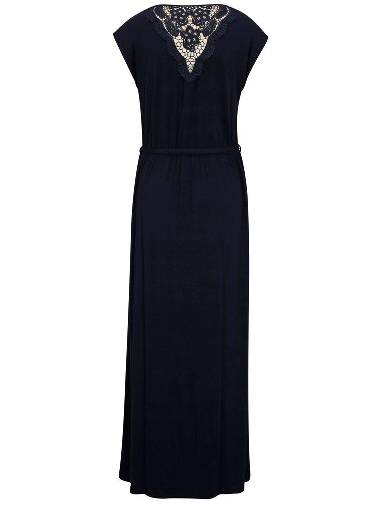 Rochie maxi bleumarin cu macrame Dorothy Perkins