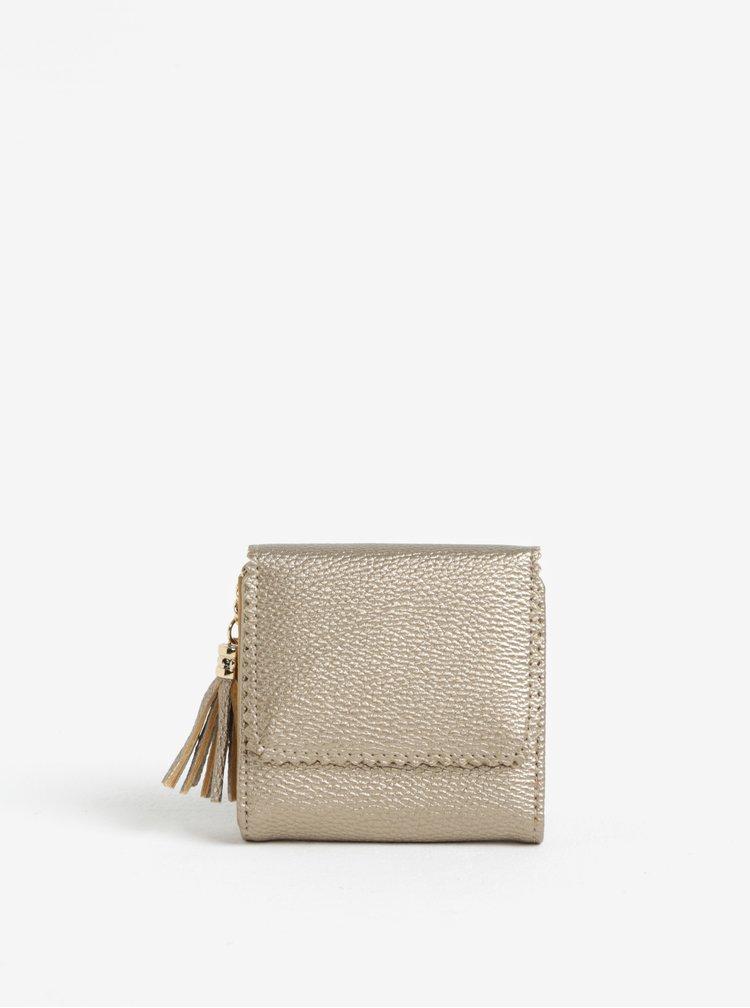 Malá peněženka ve zlaté barvě MISSGUIDED