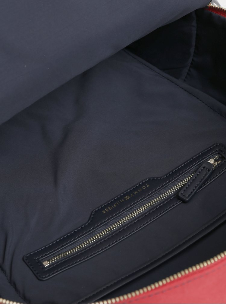 Červeno-modrý batoh Tommy Hilfiger