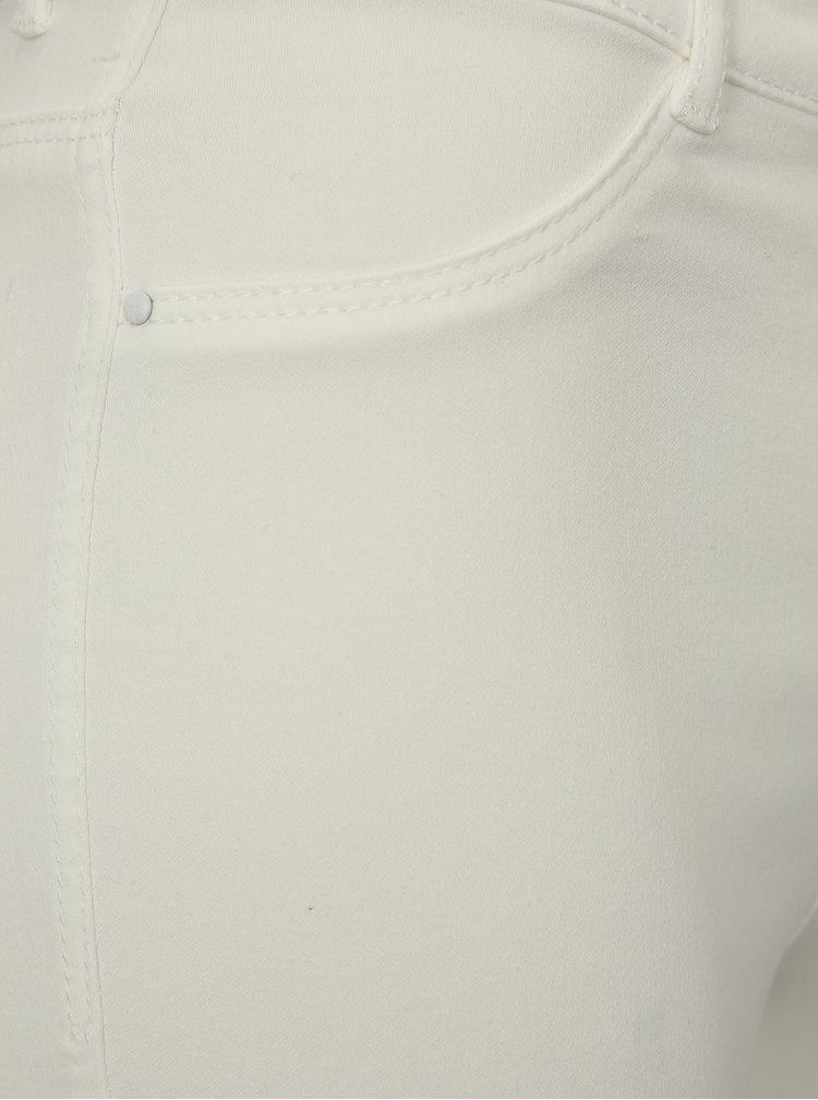 Bílé zkrácené super skinny džíny Dorothy Perkins Frankie