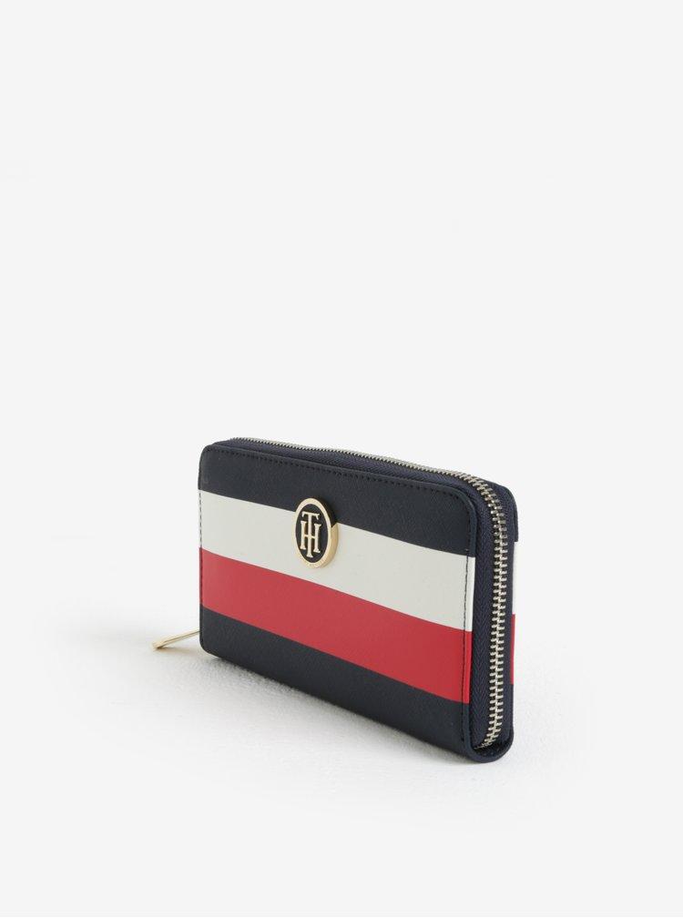 Tmavě modrá dámská pruhovaná peněženka Tommy Hilfiger