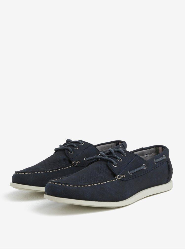 Tmavě modré pánské polobotky Burton Menswear London