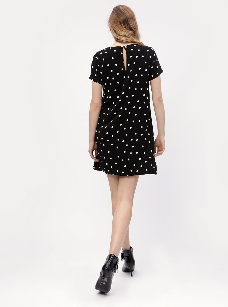 Rochie neagra cu print buline - ONLY First