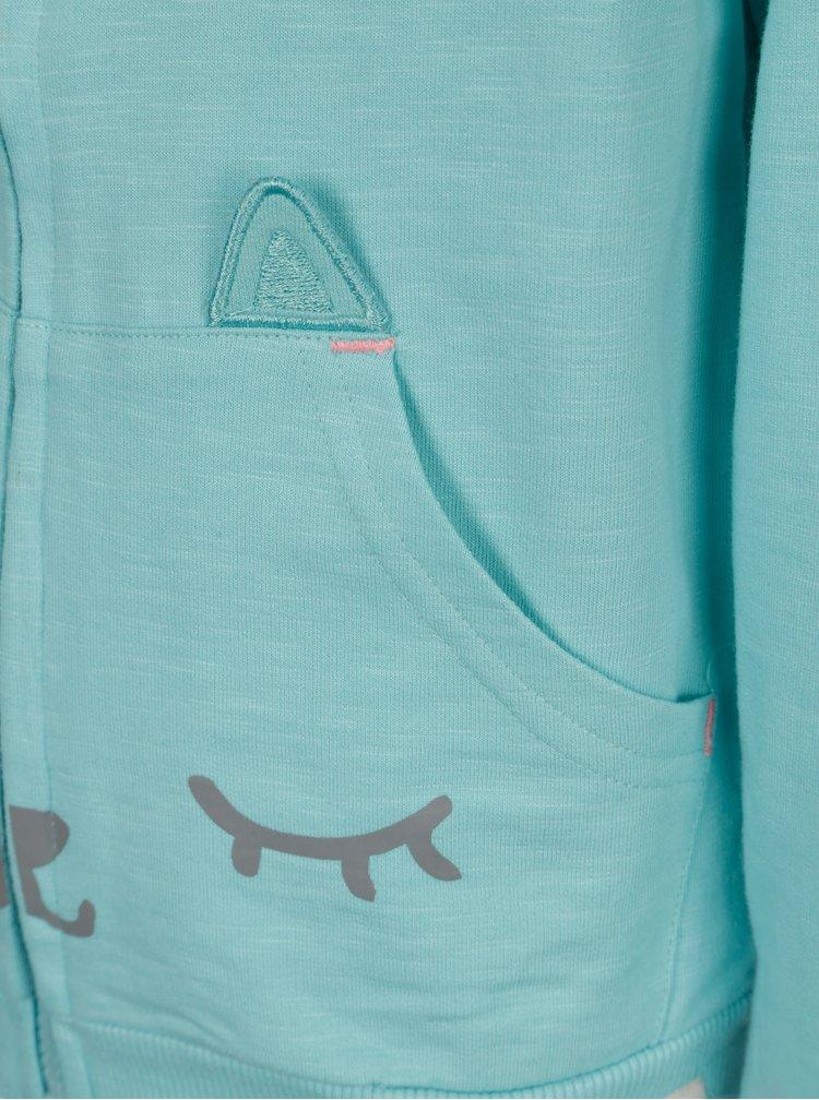 Modrá holčičí mikina s potiskem 5.10.15.