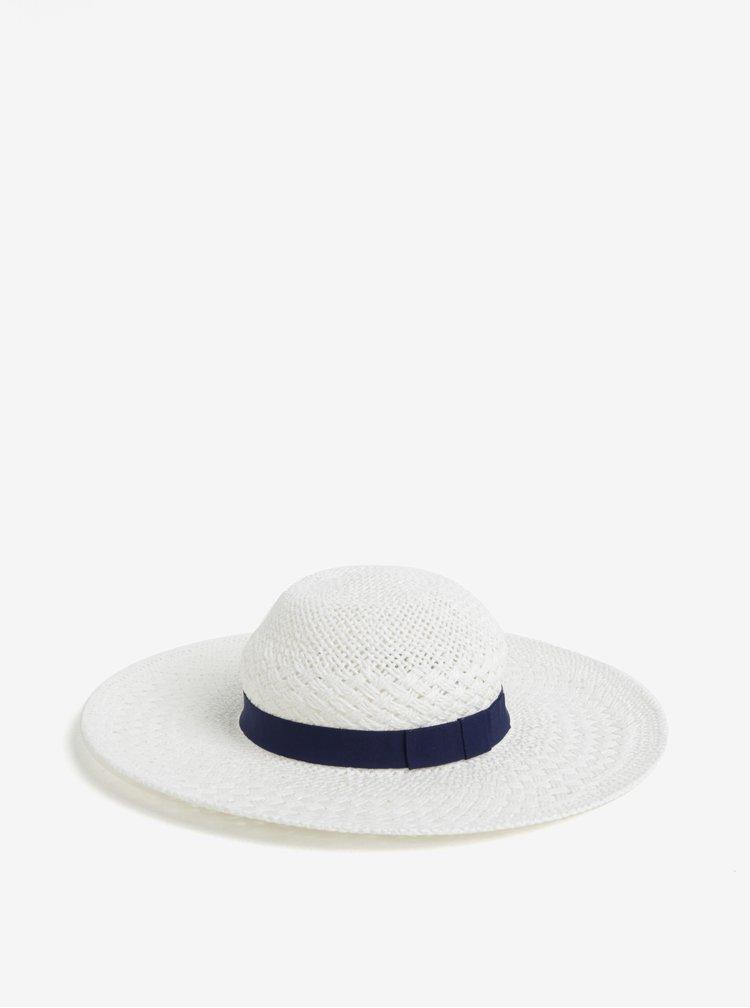 Bílý klobouk s modrou stuhou Dorothy Perkins