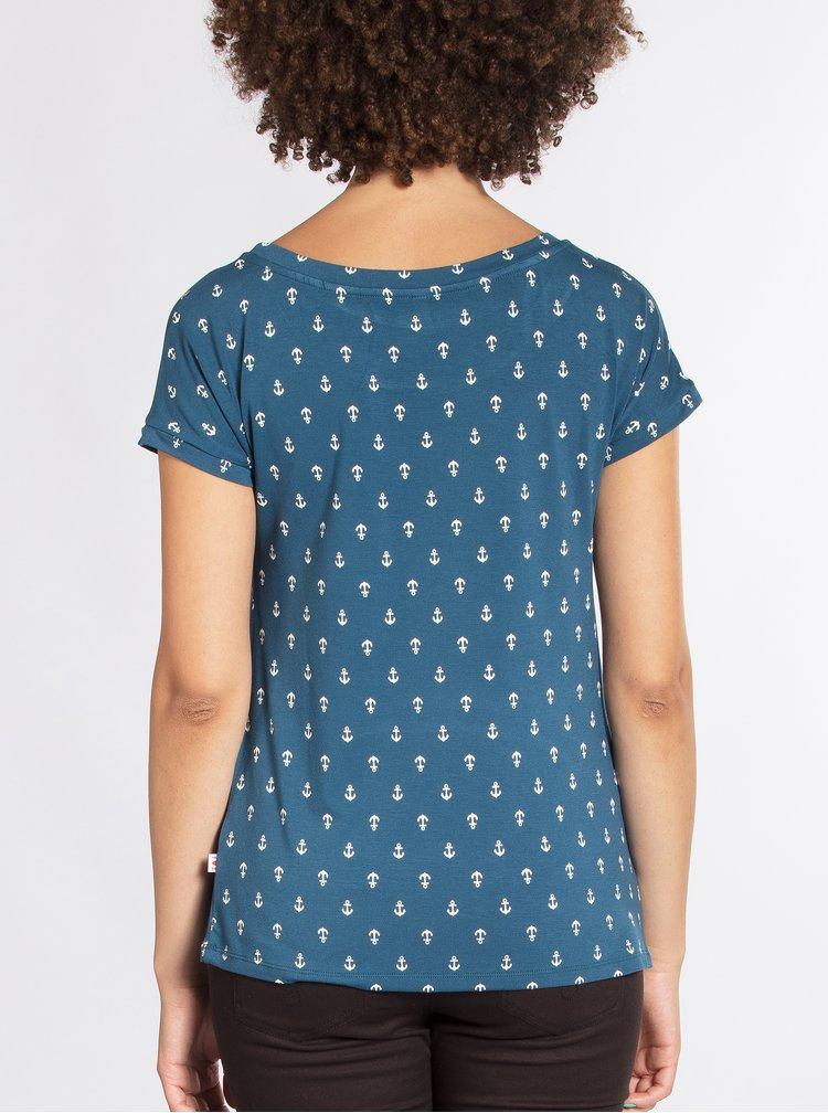 Modré tričko s krátkým rukávem a motivem kotev Blutsgeschwister