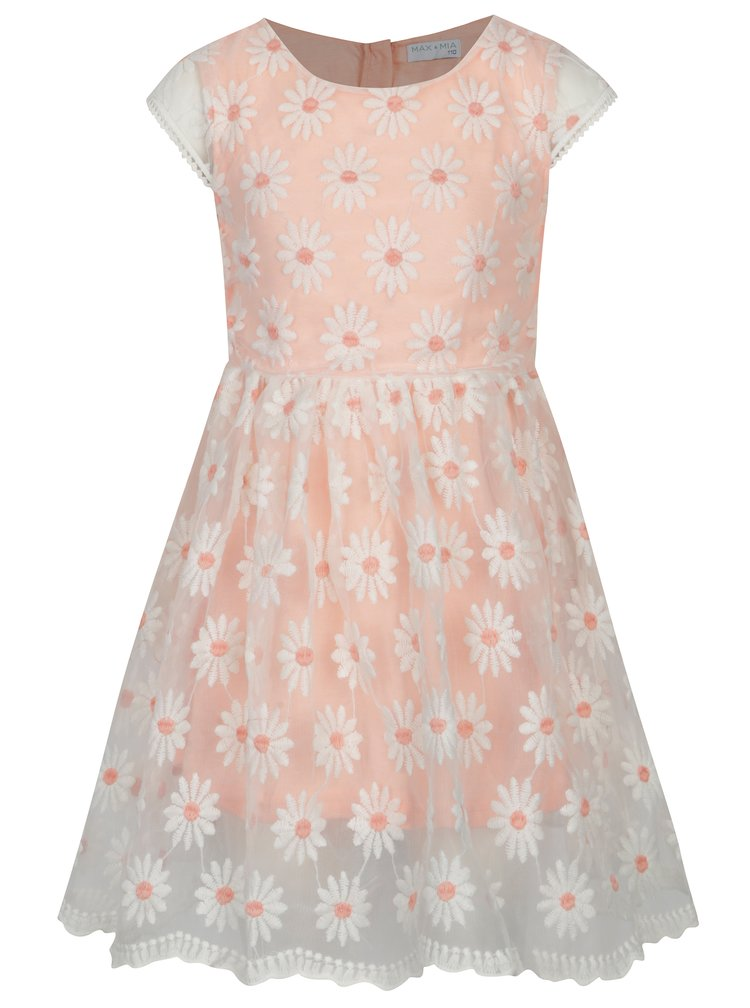 Bílo-růžové květované šaty 5.10.15.
