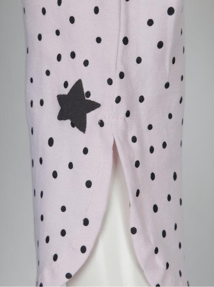 Světle růžové vzorované holčičí pyžamo 5.10.15.