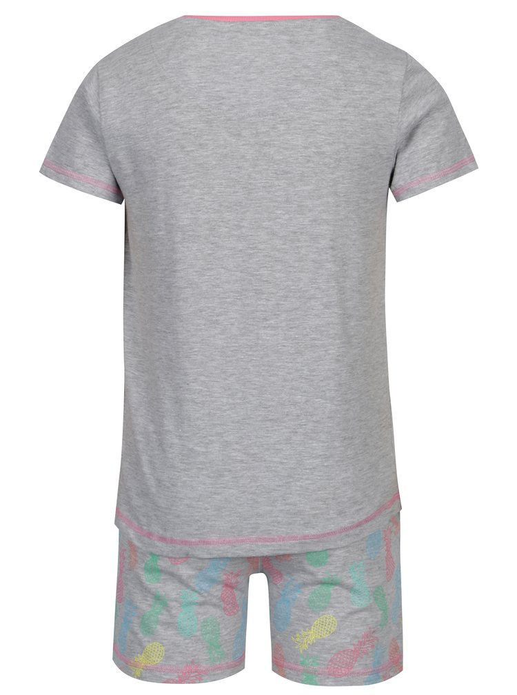 Šedé žíhané holčičí dvoudílné pyžamo 5.10.15.