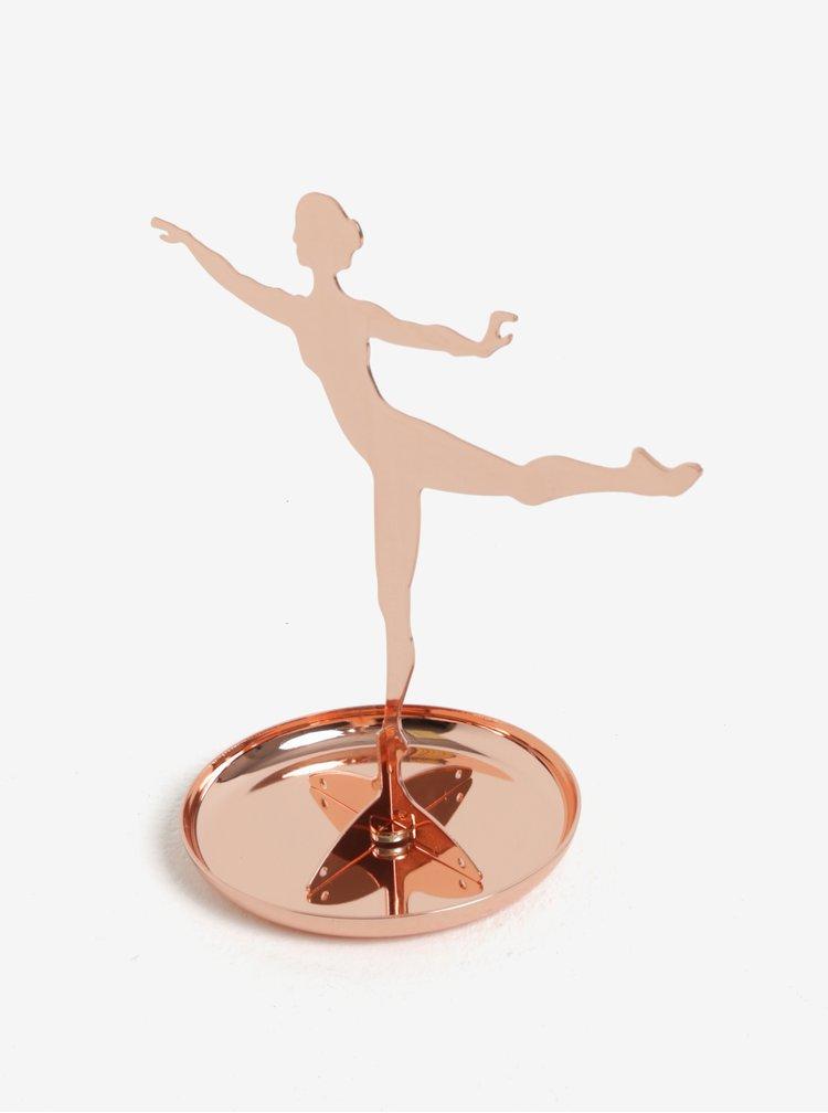 Stojan na šperky v růžovozlaté barvě Kikkerland Ballerina