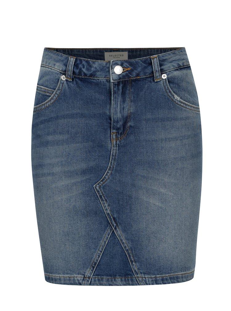 Modrá džínová sukně Selected Femme Maya