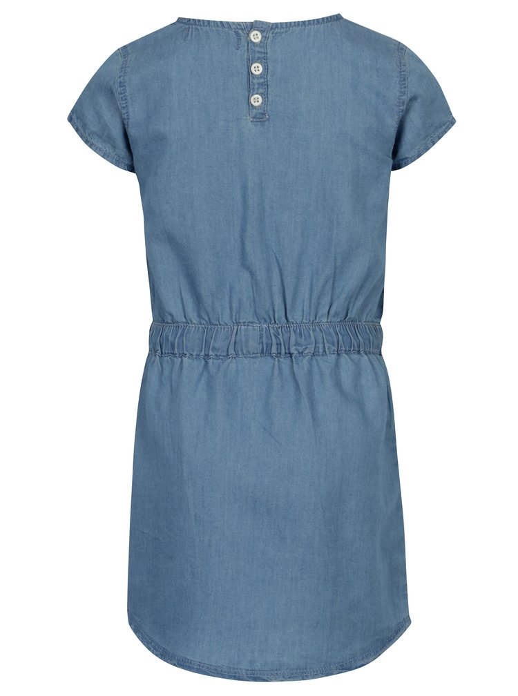 Modré šaty se stahováním v pase 5.10.15.