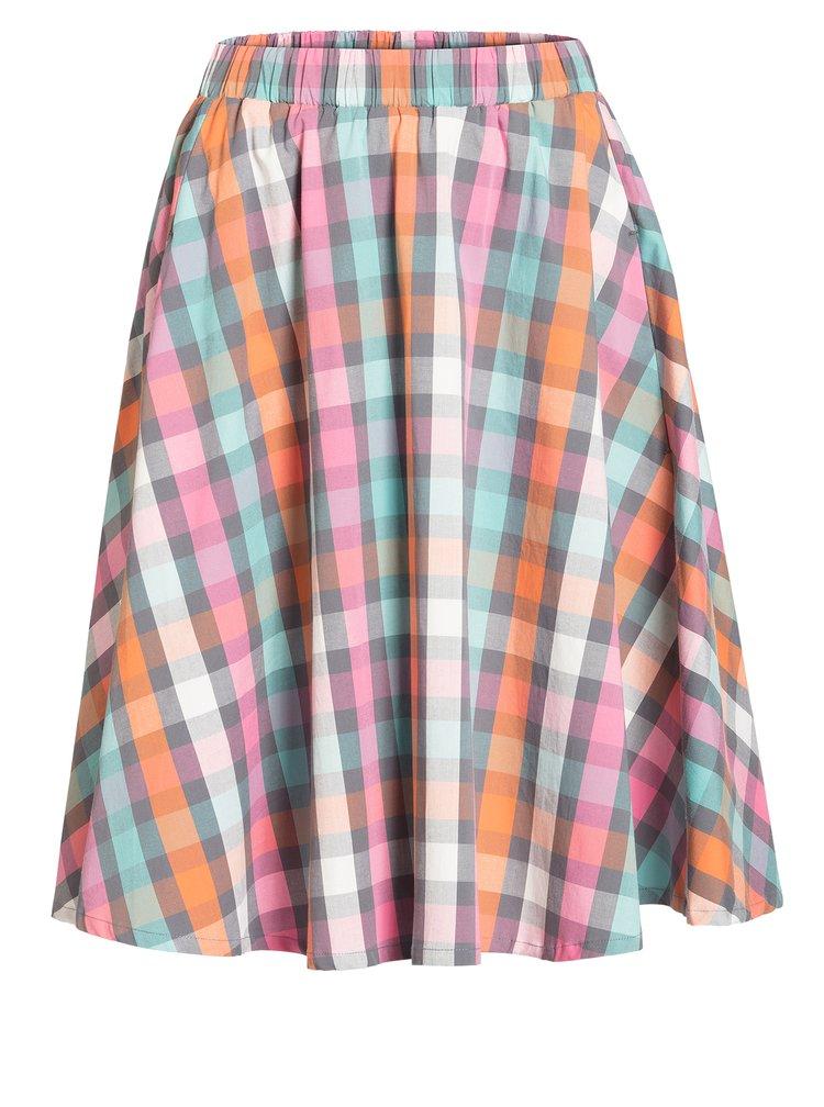 Růžovo-šedá kostkovaná sukně Blutsgeschwister