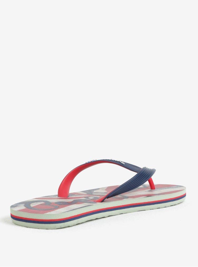 Červeno-modré pánské žabky Pepe Jeans Hawi flag