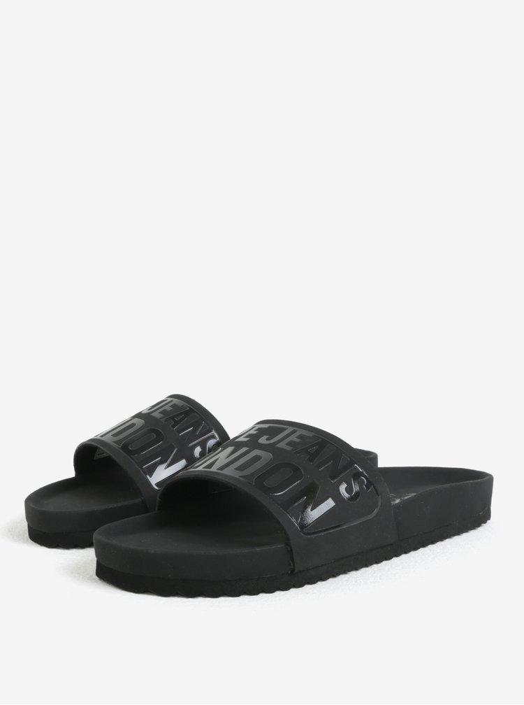 Černé dámské pantofle Pepe Jeans Bio royal