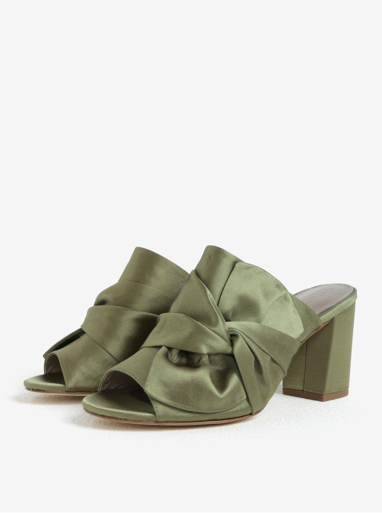 Zelené pantofle s mašlí Tamaris