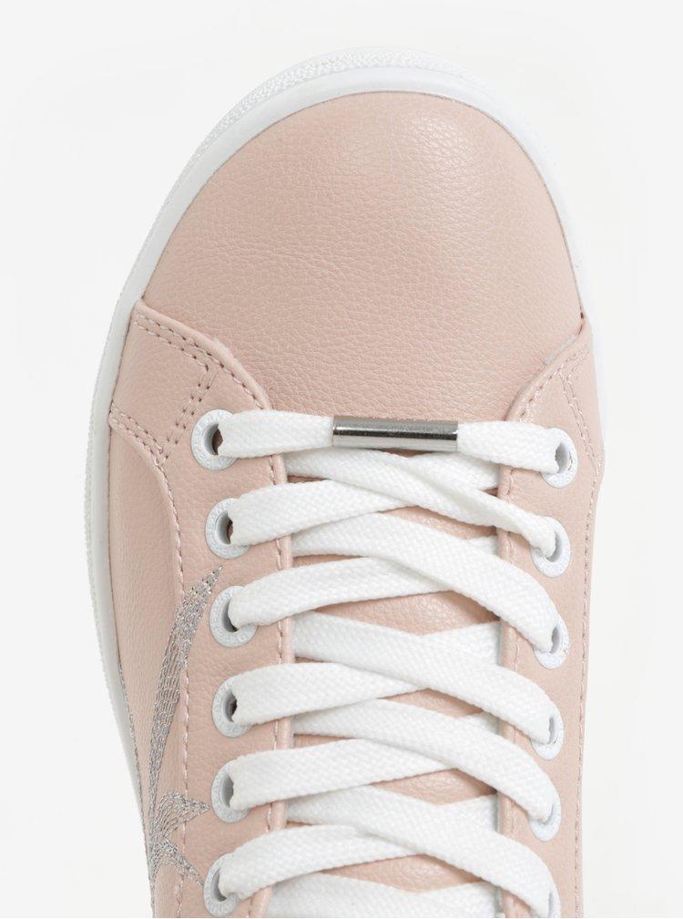 Bílo-růžové dámské tenisky Pepe Jeans Brompton Embroidery