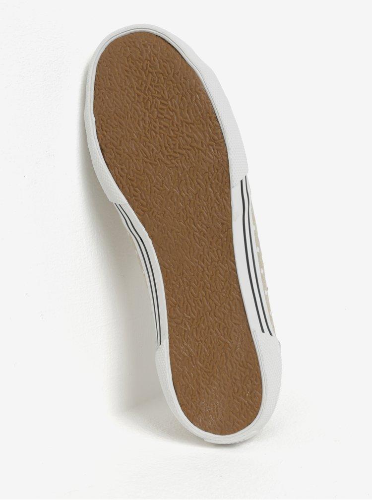 Béžové dámské vzorované tenisky Pepe Jeans Aberlady Sand
