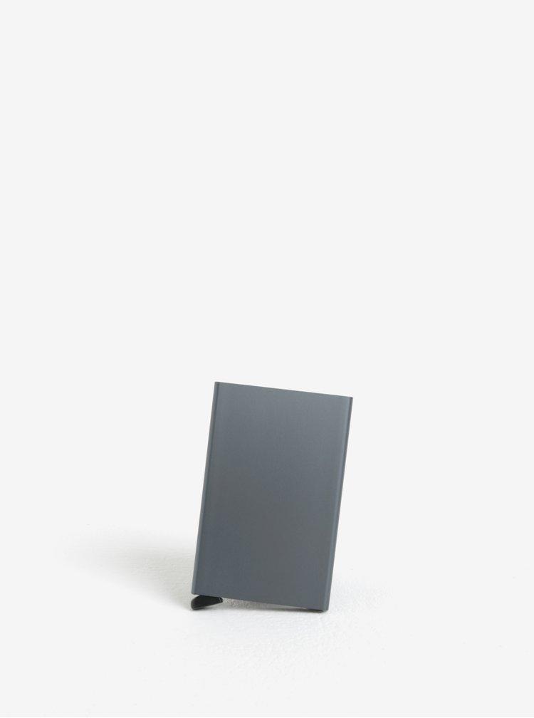 Šedé hliníkové pouzdro na karty s RFID krytím Secrid Cardprotector