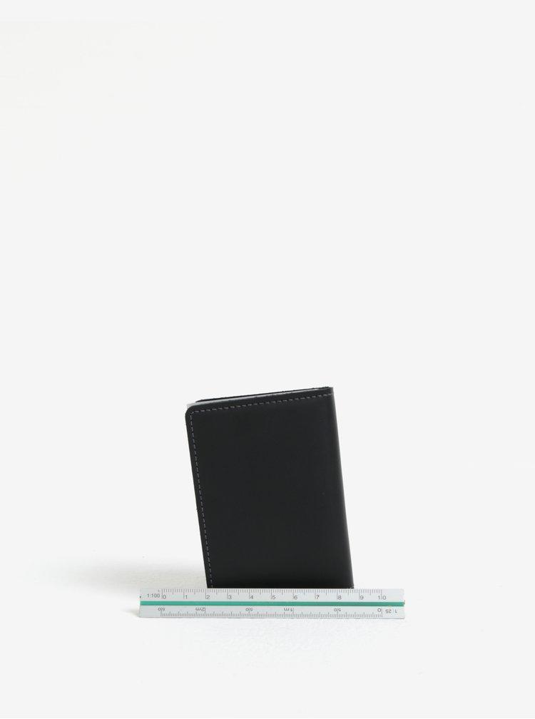 Černá pánská kožená peněženka s hliníkovým pouzdrem s RFID Secrid Slimwallet