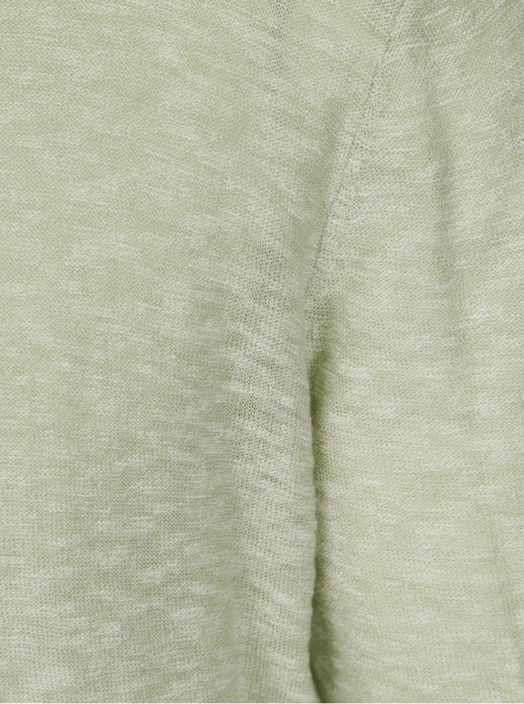 Světle zelený žíhaný lehký svetr ONLY & SONS Paldin