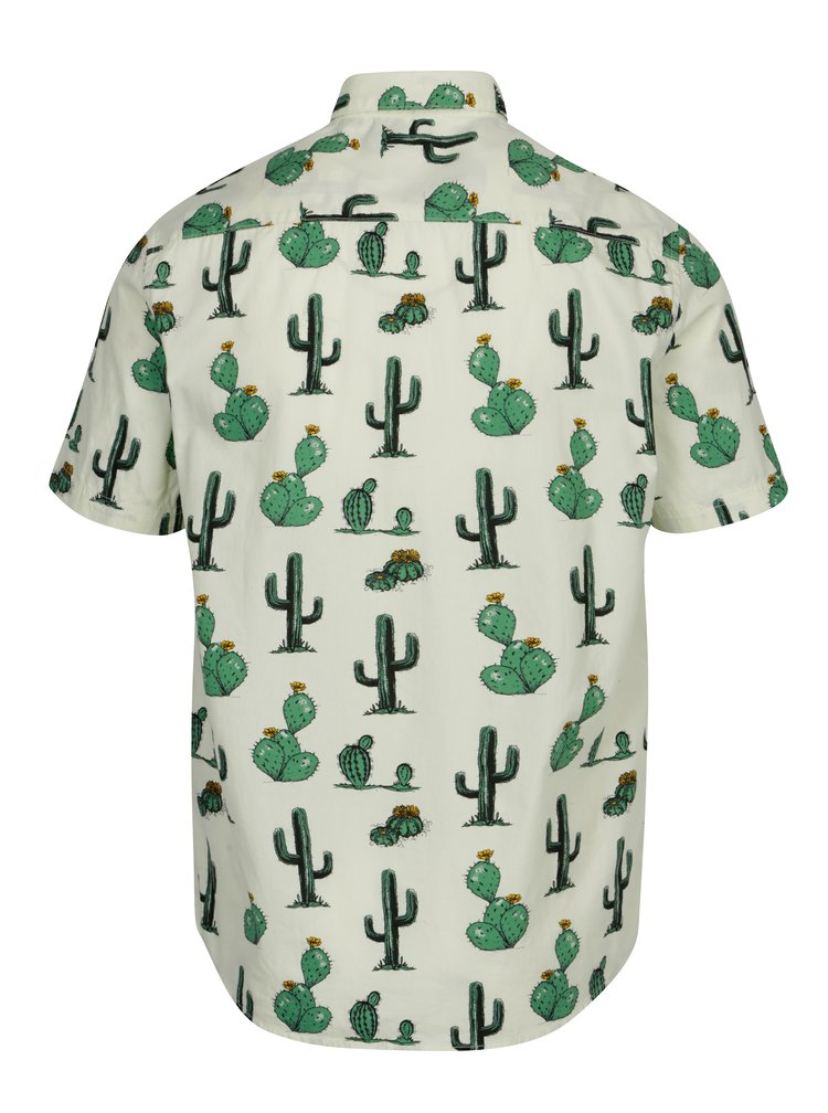 Camasa verde deschis cu print cactusi ONLY & SONS Cool