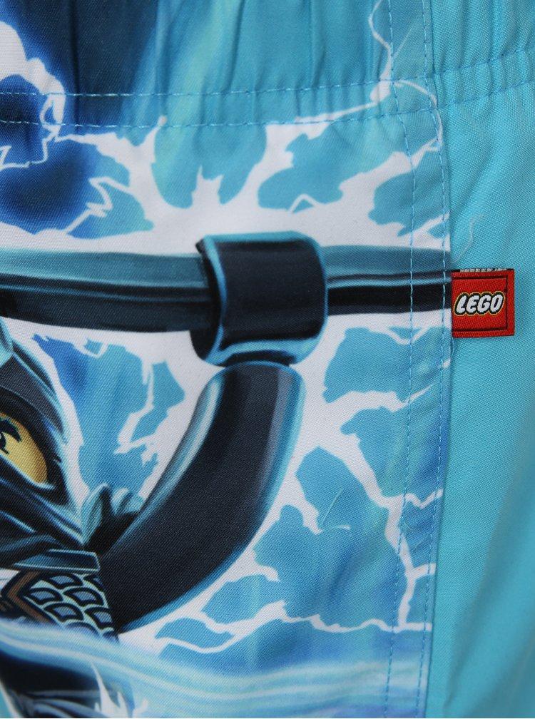 Tyrkysové chlapčenské plavky s potlačou Lego Wear Ping