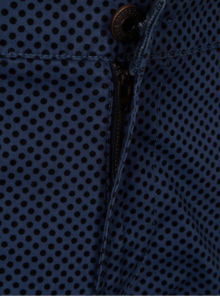 Modré vzorované chino kraťasy ONLY & SONS Holm