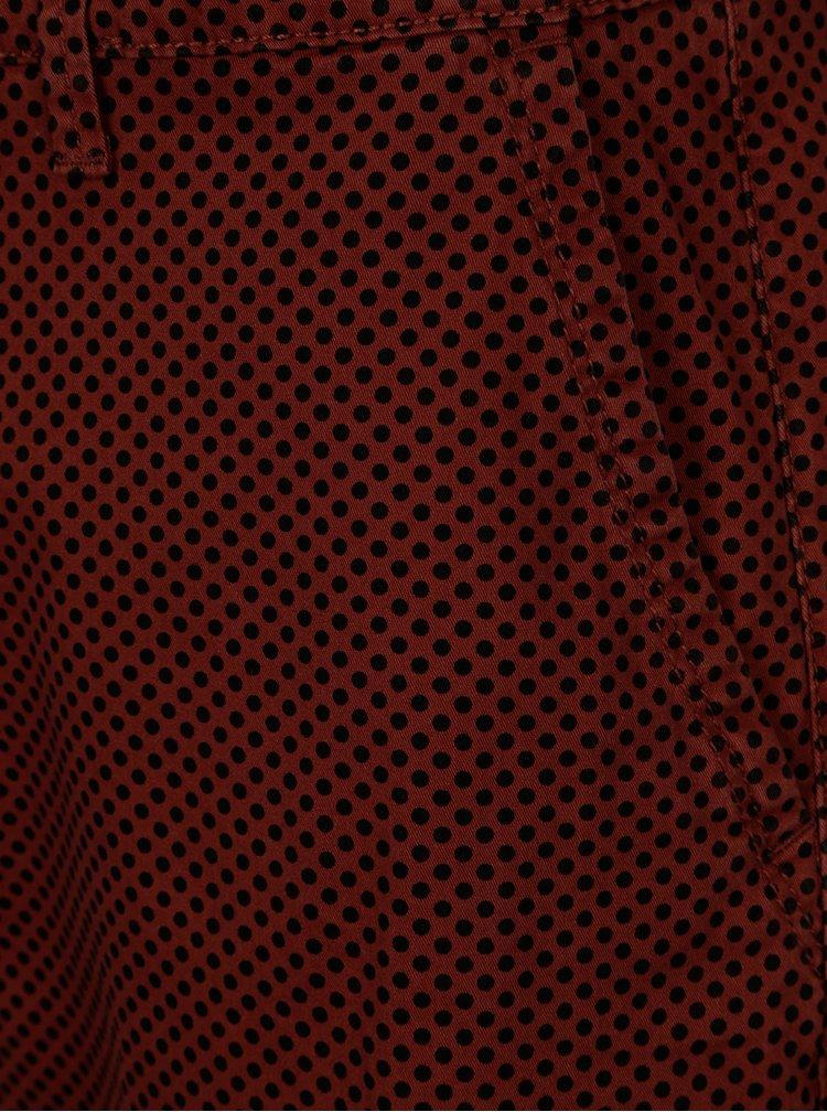 Červené vzorované chino kraťasy ONLY & SONS Holm