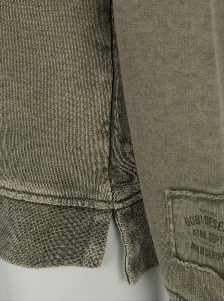 Khaki klučičí mikina s vyšisovaným efektem name it Karsten