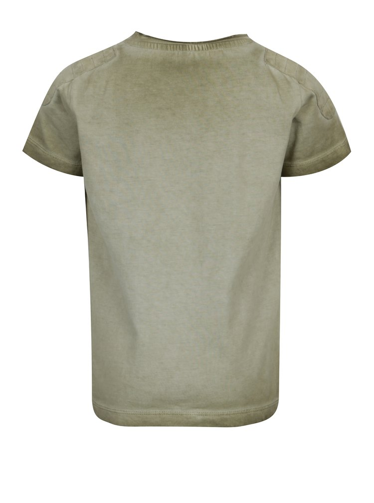 Khaki klučičí tričko s potiskem name it Kaspar