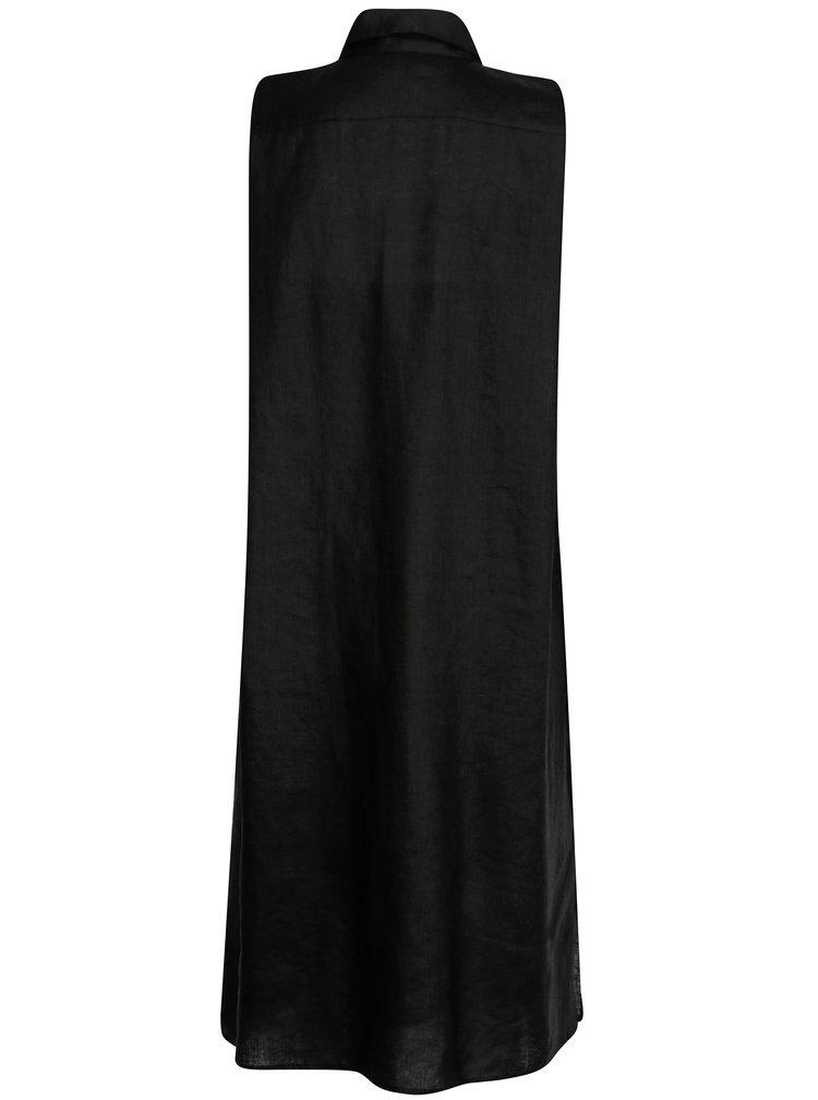 Rochie camasa neagra satinata din in DKNY