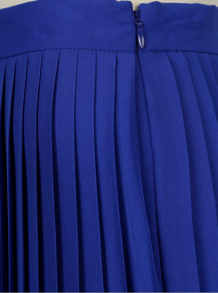 Fusta plisata albastru cu negru in degrade DKNY