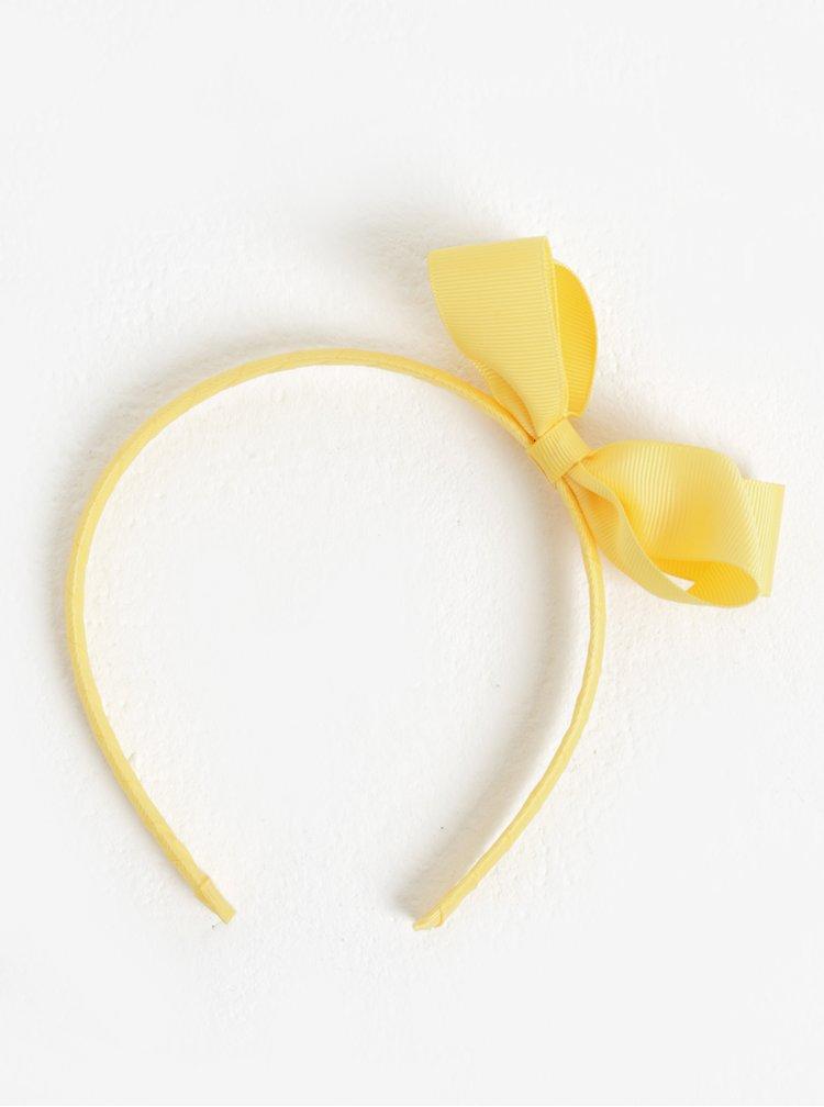 Žlutá holčičí čelenka s mašlí name it Facc-Killa