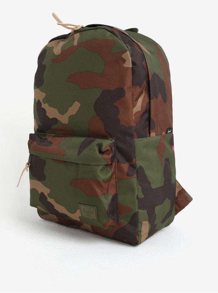 Hnědo-zelený maskáčový batoh Herschel Winlaw 22l