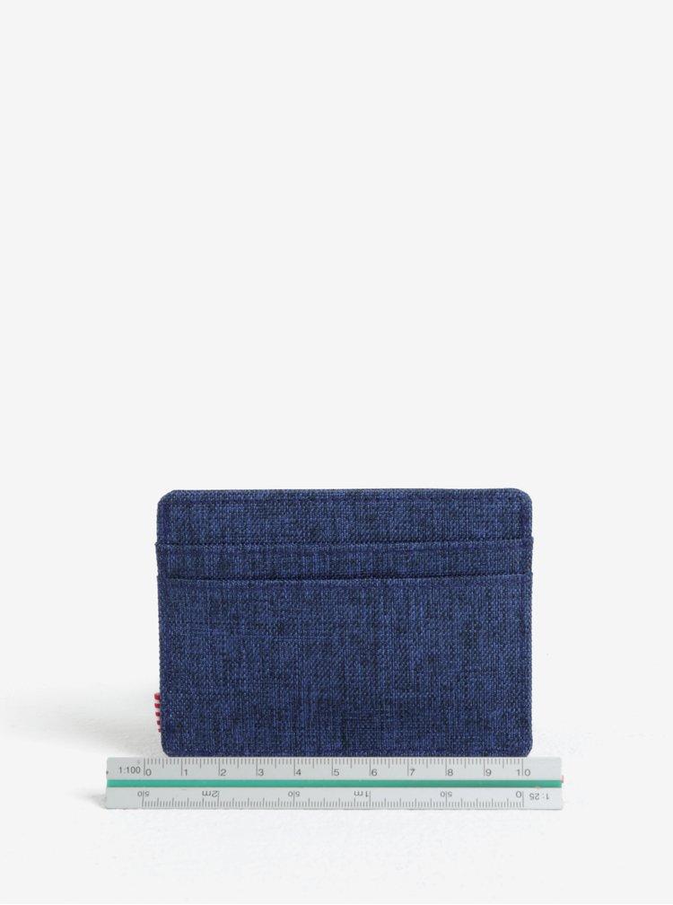 Tmavě modré džínové pouzdro na karty Herschel Charlie