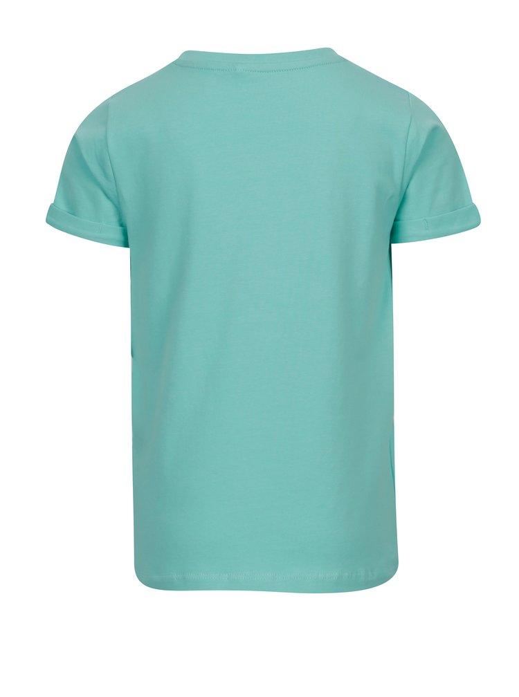 Mentolové klučičí tričko s potiskem name it Vux