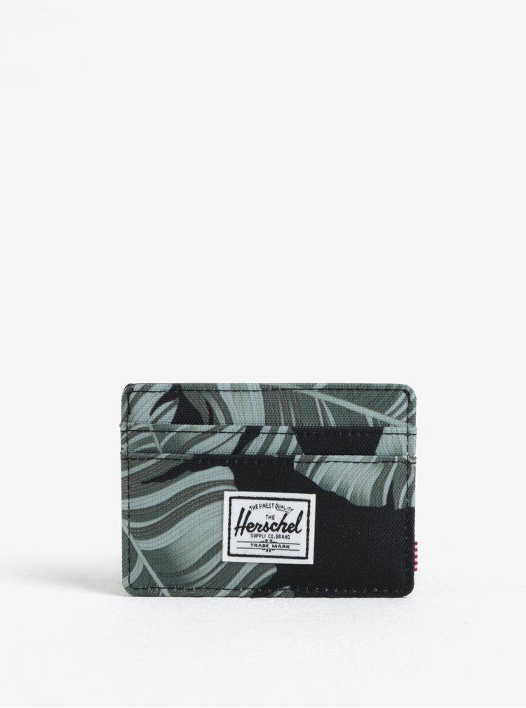 Černo-zelené pouzdro na karty Herschel Charlie