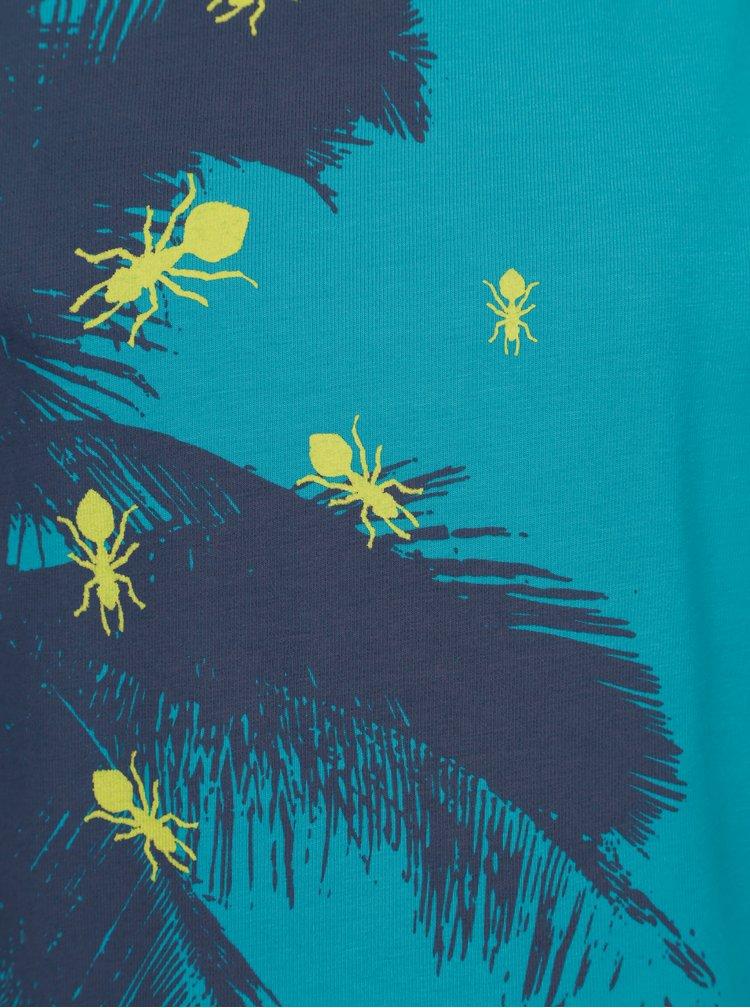 Modré klučičí tričko s exotickým potiskem name it Vux