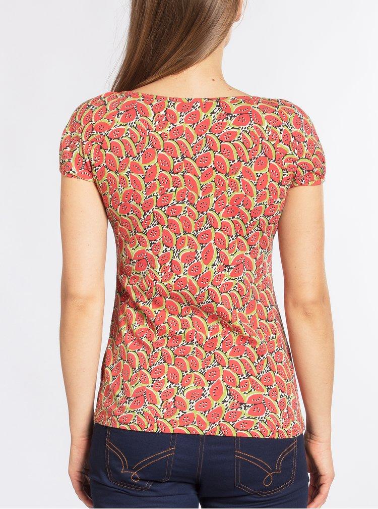 Červené tričko krátkým rukávem s motivem melounů Blutsgeschwister