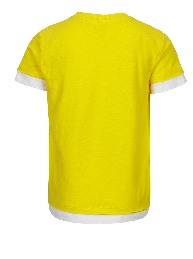 Žluté dětské tričko s kapsou name it Jimmy