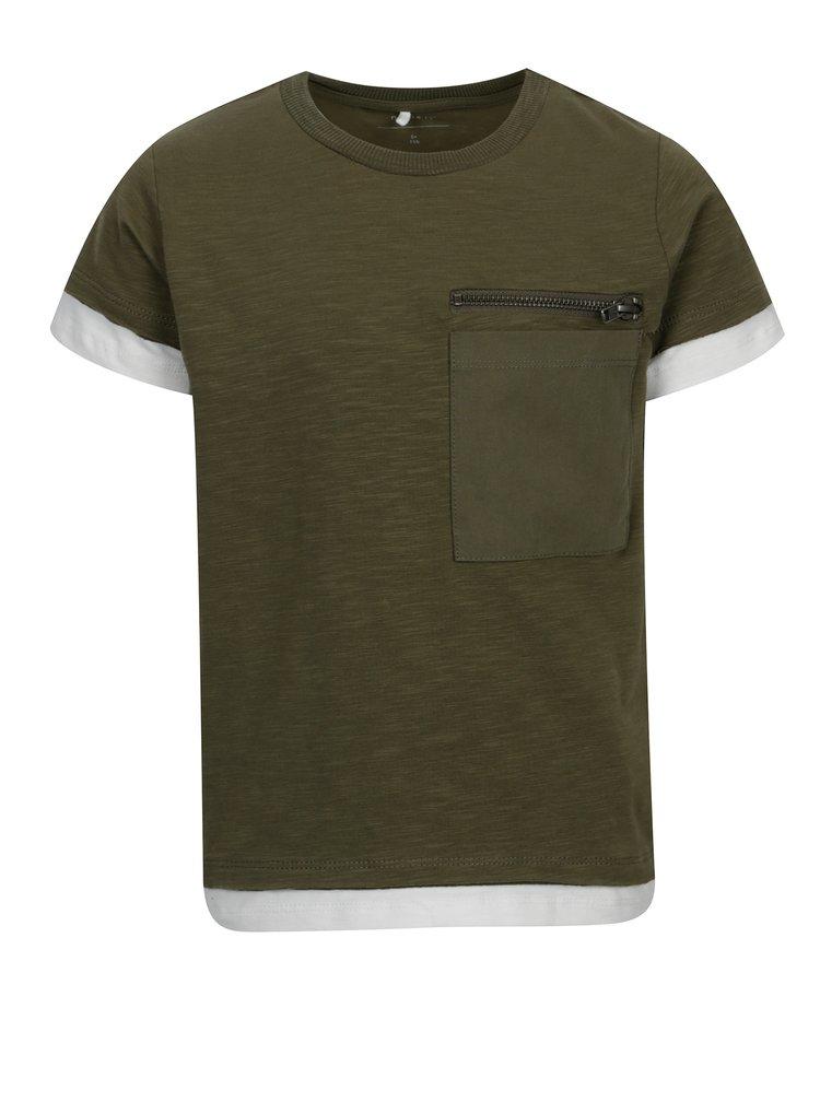 Zelené klučičí tričko s kapsou name it Jimmy