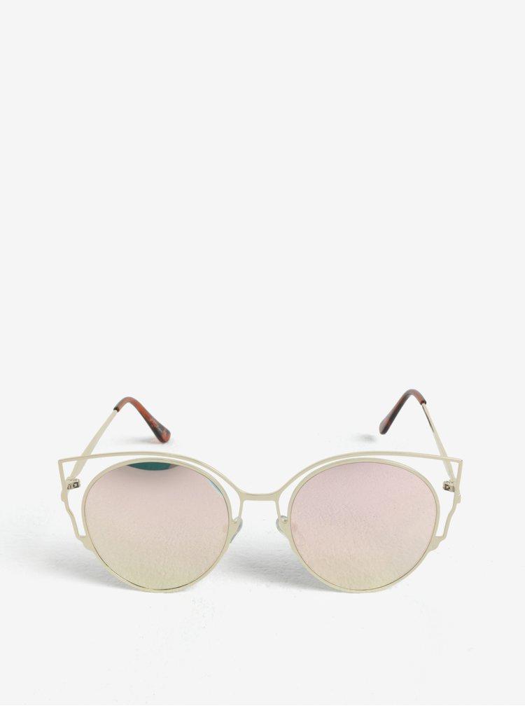 Dámské sluneční brýle ve zlaté barvě Jeepers Peepers